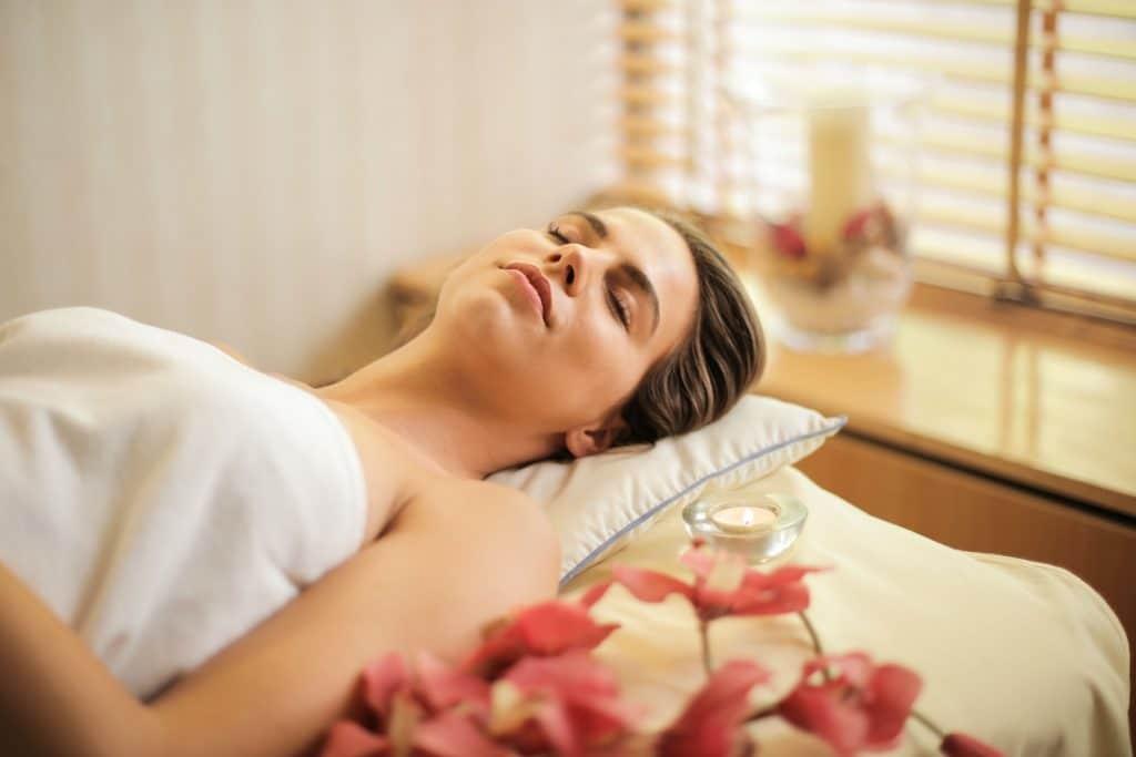 Woman Massage Table Spa Treatment